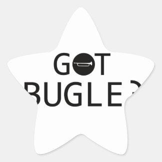 Diseños de la música del BUGLE Pegatina En Forma De Estrella