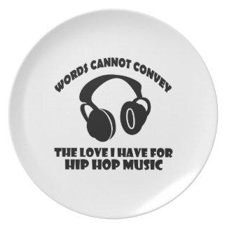 Diseños de la música del hip-hop platos