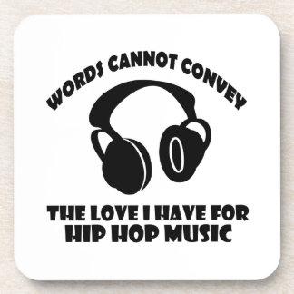 Diseños de la música del hip-hop posavasos
