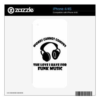 Diseños de la música del miedo calcomanía para iPhone 4