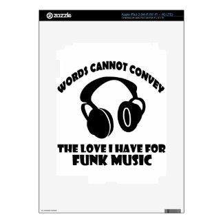 Diseños de la música del miedo iPad 3 skins
