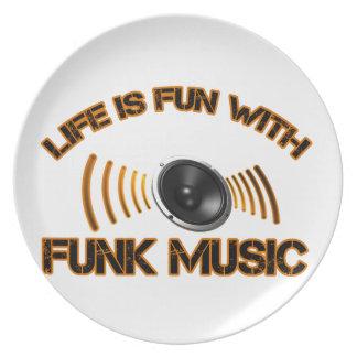 diseños de la música del miedo platos para fiestas