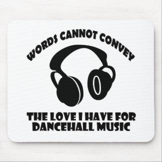 Diseños de la música del pasillo de danza alfombrilla de ratones