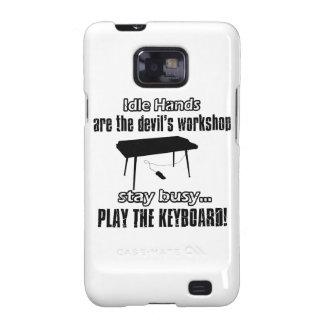diseños de la música del teclado galaxy s2 fundas