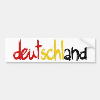 ¡Diseños de la original de Deutschand! Etiqueta De Parachoque