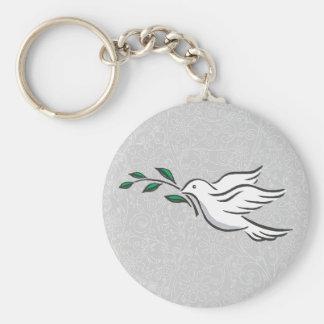 Diseños de la paloma llavero redondo tipo pin