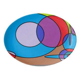 diseños de la pintura 90s badeja de porcelana