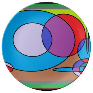 diseños de la pintura 90s plato de cerámica