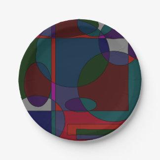 diseños de la pintura 90s plato de papel de 7 pulgadas