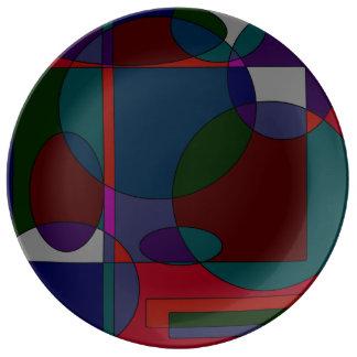 diseños de la pintura 90s platos de cerámica