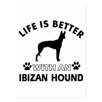 Diseños de la raza del perro de caza de Ibizan Tarjetas Postales