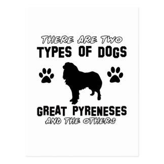 Diseños de la raza del perro de los grandes postales