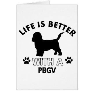 Diseños de la raza del perro de PBGV Tarjeton