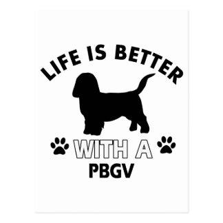 Diseños de la raza del perro de PBGV Tarjetas Postales