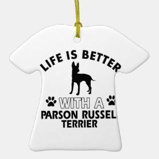 Diseños de la raza del perro de Russel Terrier del Ornamento Para Reyes Magos