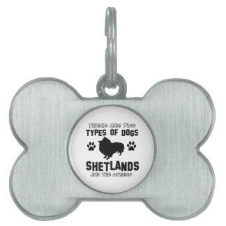 Diseños de la raza del perro de Shetland Placas De Mascota