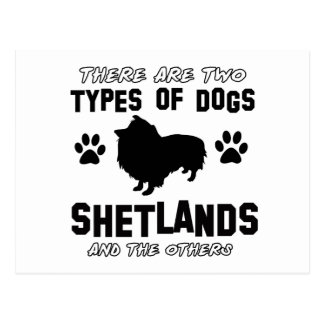 Diseños de la raza del perro de Shetland Tarjetas Postales