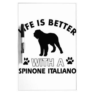 Diseños de la raza del perro de Spinone Italiano Pizarra
