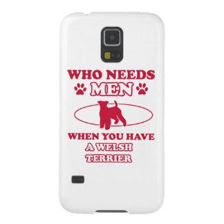Diseños de la raza del perro de Terrier galés Funda Galaxy S5