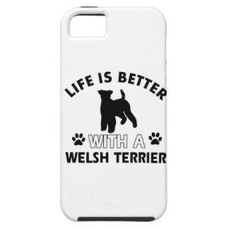 Diseños de la raza del perro de Terrier galés Funda Para iPhone SE/5/5s