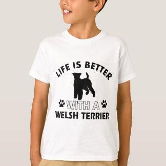 Diseños de la raza del perro de Terrier galés Playera