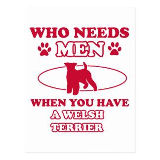 Diseños de la raza del perro de Terrier galés Postales