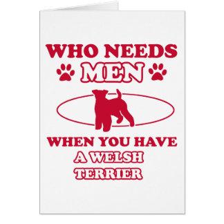 Diseños de la raza del perro de Terrier galés Tarjeta De Felicitación