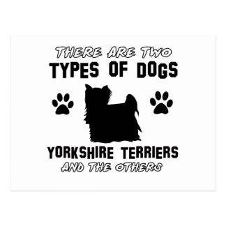 Diseños de la raza del perro de Yorkshire Terrier Postal