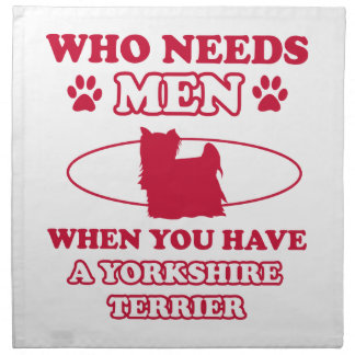 Diseños de la raza del perro de Yorkshire Terrier Servilletas De Papel