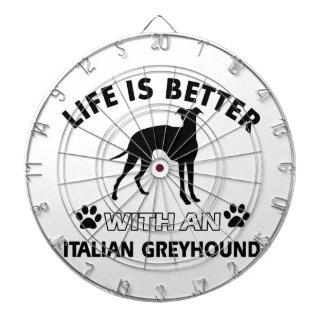 Diseños de la raza del perro del galgo italiano tablero dardos