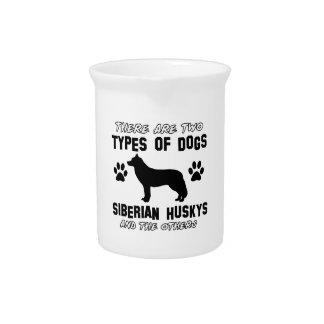Diseños de la raza del perro del husky siberiano jarras de beber