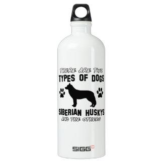 Diseños de la raza del perro del husky siberiano