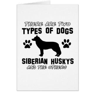 Diseños de la raza del perro del husky siberiano tarjeta de felicitación