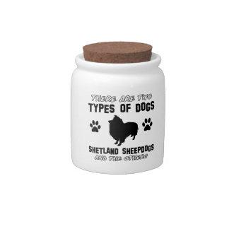 Diseños de la raza del perro del perro pastor de platos para caramelos