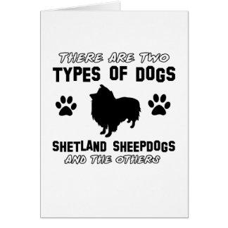 Diseños de la raza del perro del perro pastor de tarjeta de felicitación