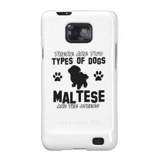 Diseños de la raza del perro maltés galaxy s2 carcasa