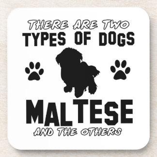 Diseños de la raza del perro maltés posavasos