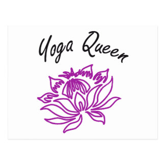 ¡Diseños de la reina de la yoga! Postales