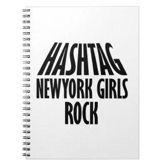 Diseños de la roca de los chicas de Nueva York Note Book