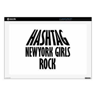 Diseños de la roca de los chicas de Nueva York Portátil Calcomanías