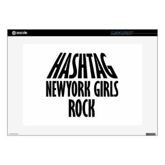 Diseños de la roca de los chicas de Nueva York Portátil Skin