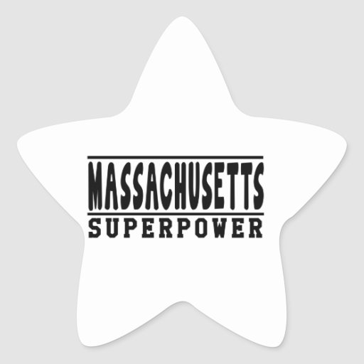 Diseños de la superpotencia de Massachusetts Colcomanias Forma De Estrellaes Personalizadas