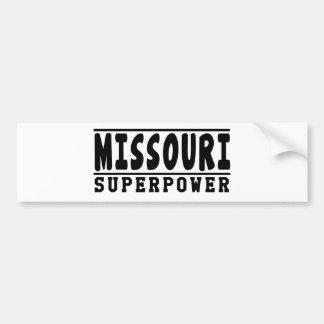 Diseños de la superpotencia de Missouri Etiqueta De Parachoque