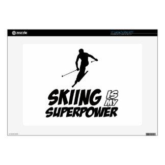 Diseños de la superpotencia del esquí calcomanía para portátil