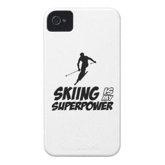 Diseños de la superpotencia del esquí iPhone 4 Case-Mate cárcasa