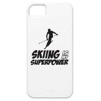 Diseños de la superpotencia del esquí iPhone 5 carcasa