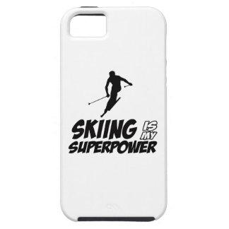 Diseños de la superpotencia del esquí iPhone 5 funda