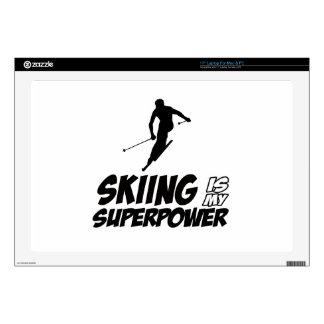 Diseños de la superpotencia del esquí portátil skins