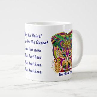Diseños de la taza 2 del fiesta diversos la reina taza jumbo