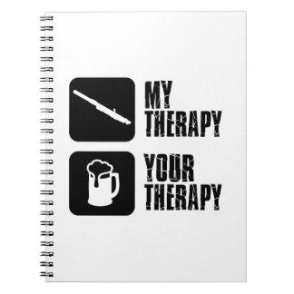 diseños de la terapia del clarinet libros de apuntes con espiral